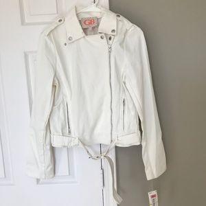 NWT white biker Jacket
